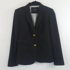 J.Crew black wool button Blazer size 0